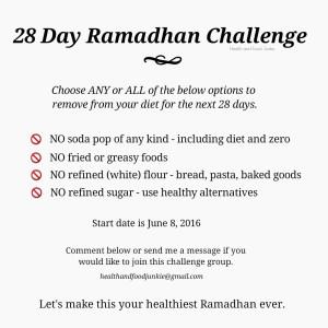 28 Day Ramadhan Challenge