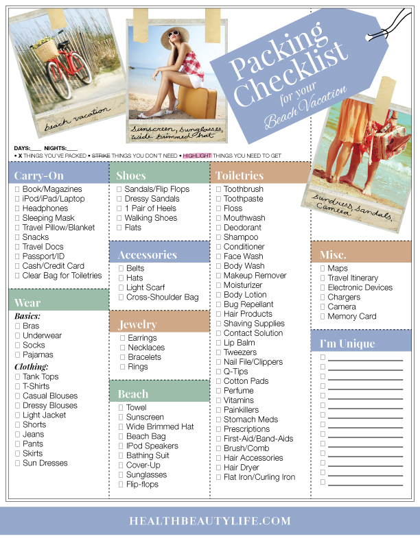 The Complete Packing Checklist
