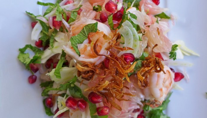Heathy Salad, Pomelo, Fennel salad