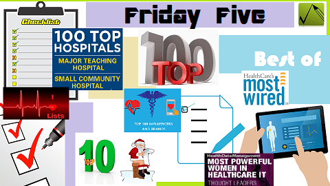 The Friday Five – Lists of 5 Pertaining to the Healthcare Industry