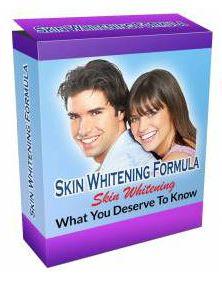 skin whitening formula
