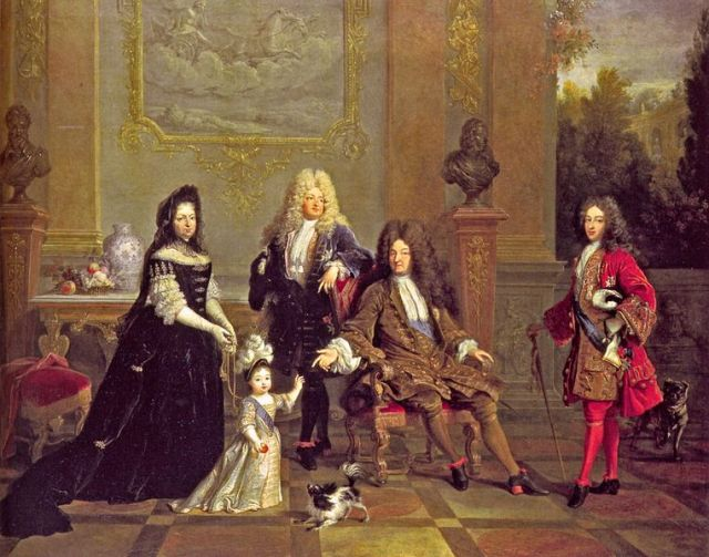 Formerly-attributed-to-Nicolas-de-Largillière-now-unknown-Louis-XIV-and-His-Family-circa-1710
