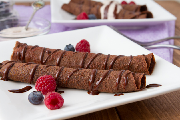 Paleo Chocolate Crepes