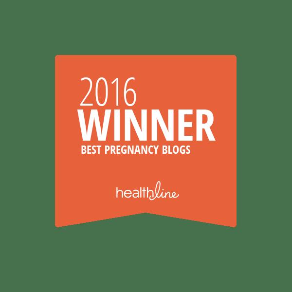 pregnancy best blogs badge