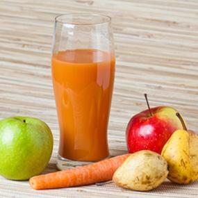 Carrot + Apple + Pear + Mango Juice