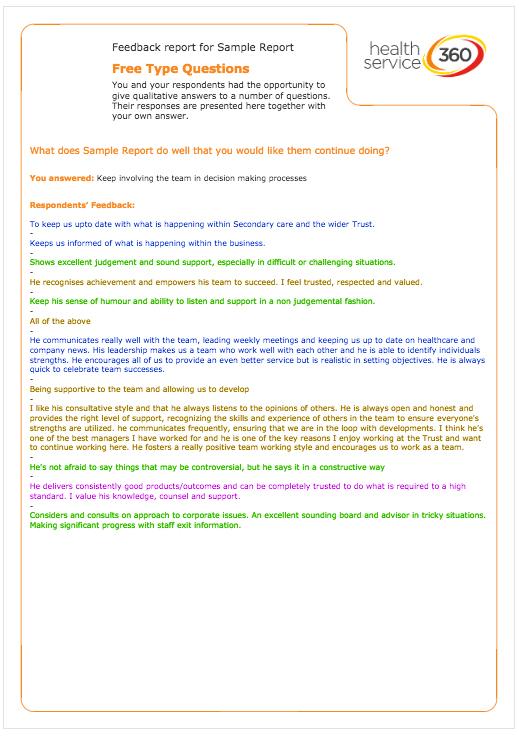 Sample Reports - Health Service 360