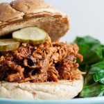 honey bourbon pulled chicken
