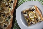 lemon fennel & olive pizza