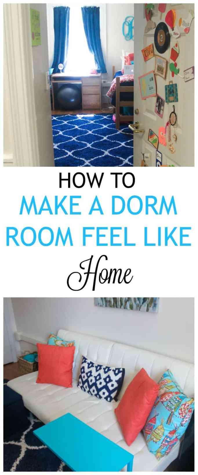 Tips for making a dorm room feel like home!