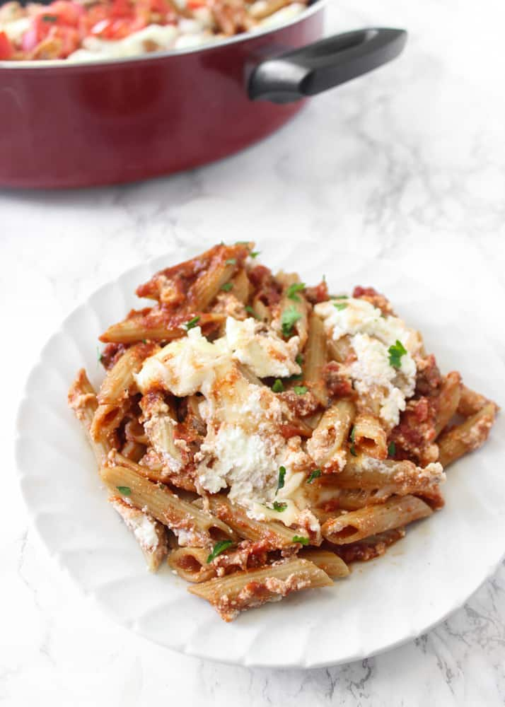 tomato sauce, this pasta's a dream meal. // healthy-liv.com