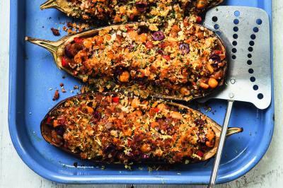 Davina McCall's Stuffed Aubergine Recipe | Healthy