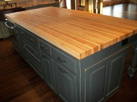 Borders Kitchen  Solid American Hardwood Island with ...