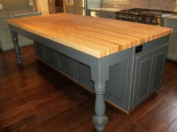 Borders Kitchen  Solid Hardwood Butcher Block Top Island ...