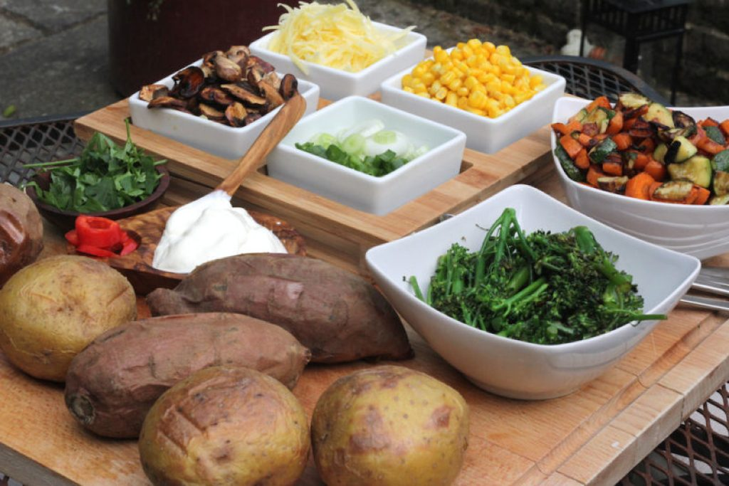 Make it Your Way-Baked Potato Bar - Healthy Mama Cooks