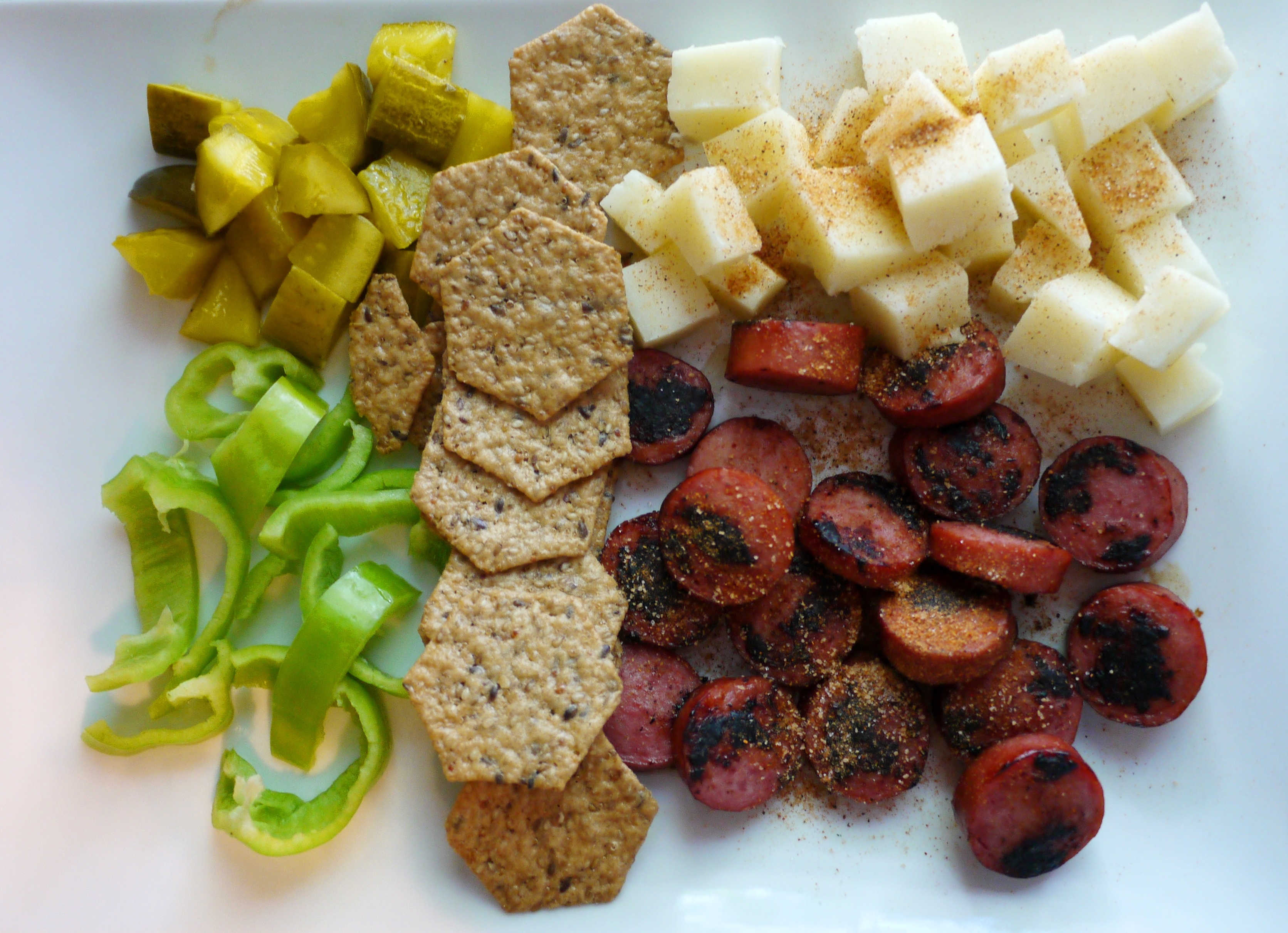 Memphis Makeover Sausage And Cheese Plate