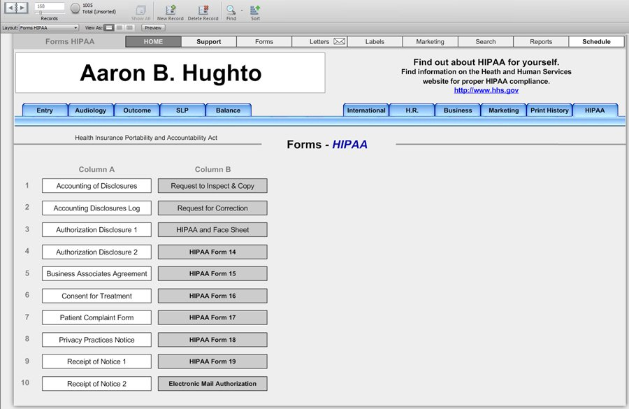 HIPAA Forms - Office Forms - HearForm Features - HearForm