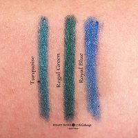 New Lakme Eyeconic Kajal Swatches, Price & Buy Online India: Turquoise, Regal Green & Royal Blue