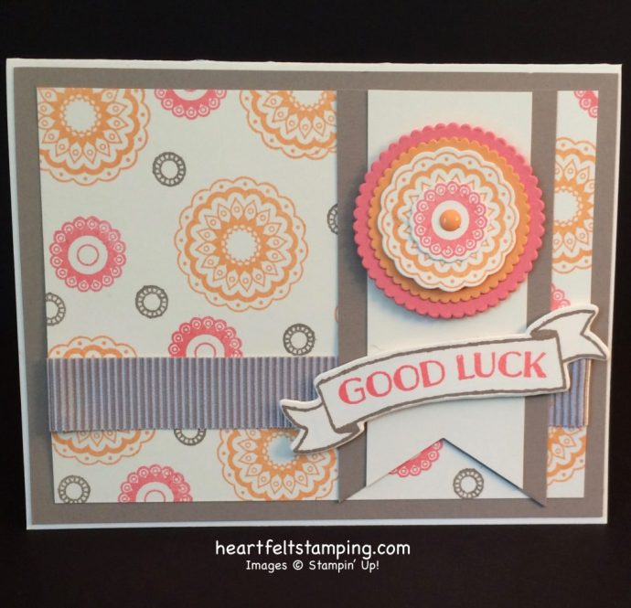 Stampin Up Paisleys & Posies card ideas - Rosanne Mulhern stampinup