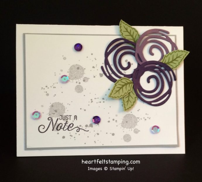 Stampin Up Swirly Scribbles notecard ideas - Rosanne Mulhern stampin up