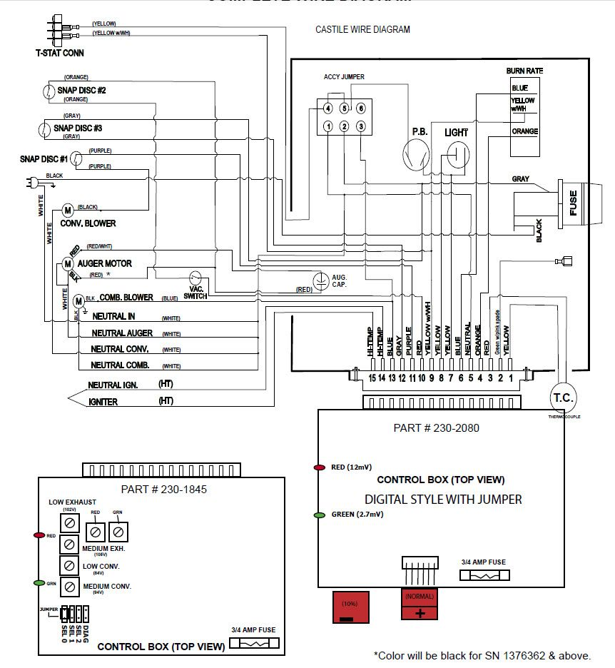 quadra fire castile wiring diagram