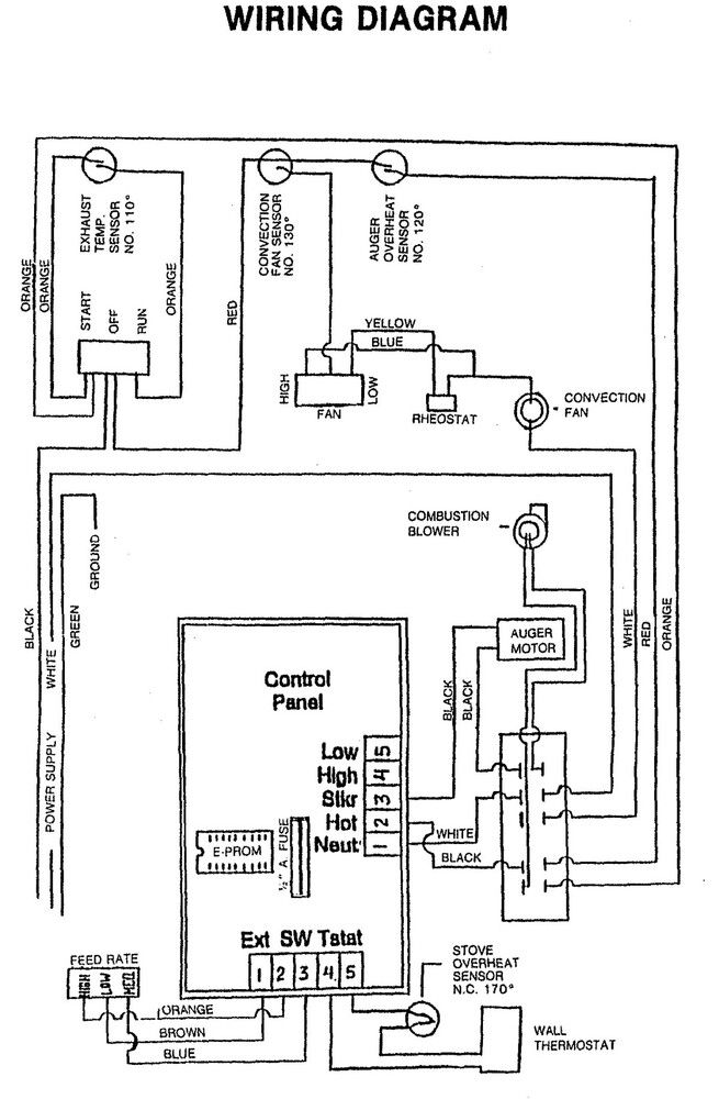 wiring schematic for enviro stove ef3b