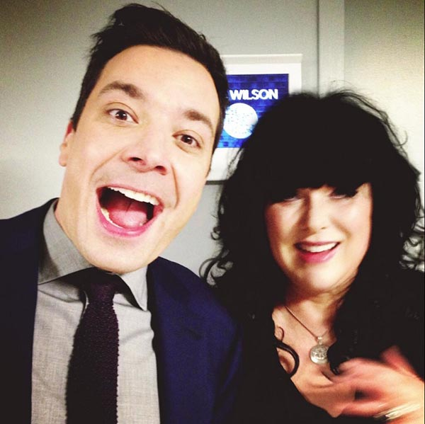Jimmy Fallon and Ann Wilson