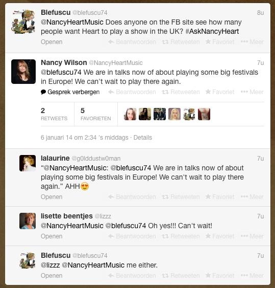 Screencap of Nancy's January 6th 2014 tweet