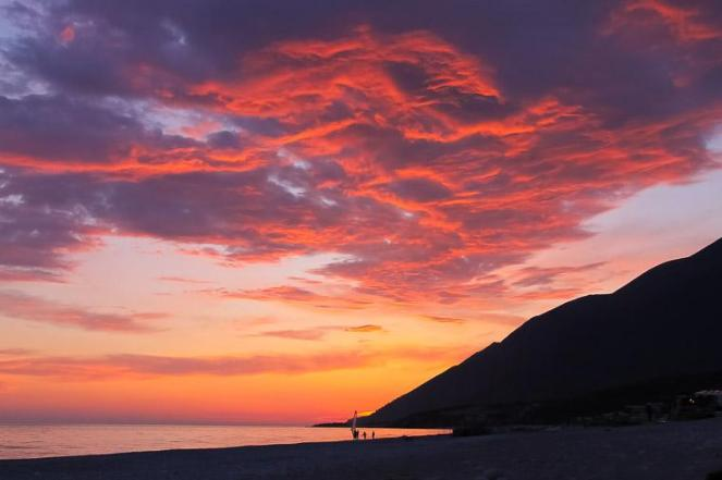 sunset Dhermi Beach, Albania
