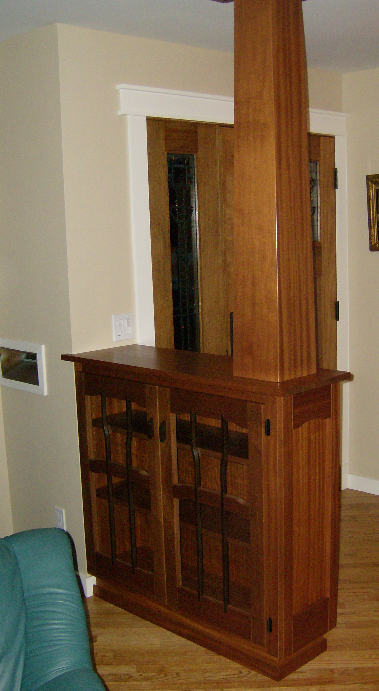 Heart of oak workshop authentic craftsman mission style built in cabinets