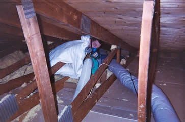 When we clean out your attic from pest contamination, we leave no corner undone, because we believe in a job well done!