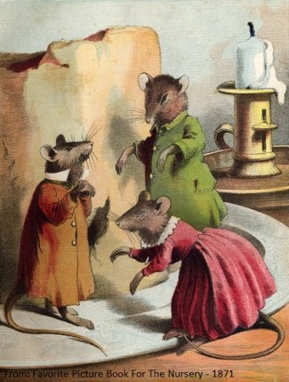 Three mice and cheese