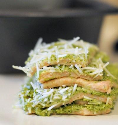Poblano Pesto Pull-Apart Bread
