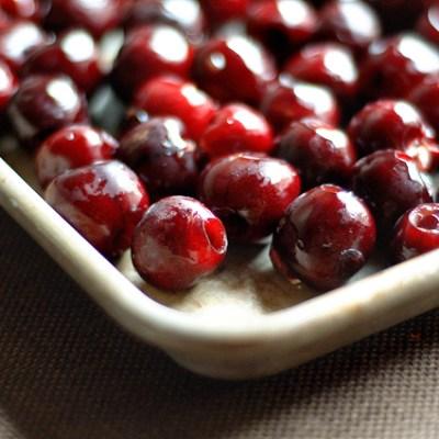Honey Balsamic Roasted Cherries