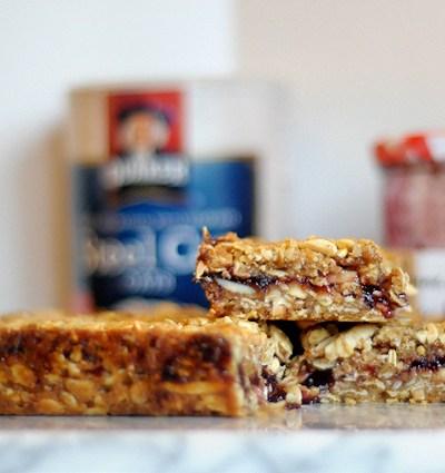 Cherry Almond Oatmeal Breakfast Bars