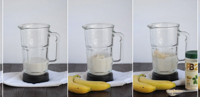 Skinny Peanut Butter Banana Smoothie