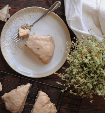 Maple Pecan Scones with Cinnamon Glaze