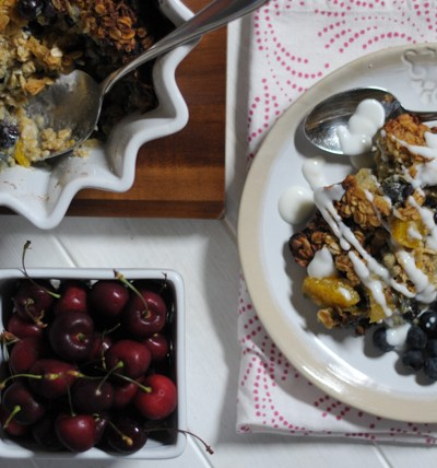 Blueberry Orange Baked Oatmeal