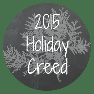 holiday creed