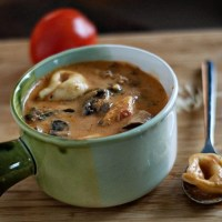 Creamy Slow-Cooker Tortellini Soup