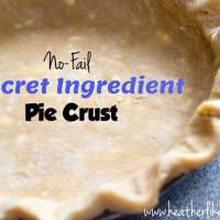 Secret Ingredient No-Fail Pie Crust
