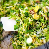 Shaved Brussel Sprout Saute