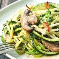 Brown Butter Zucchini Noodles with Crispy Garlic