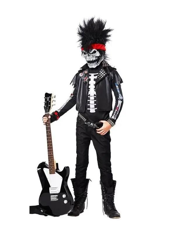 Dead Man Rockin\u0027 Boys Costume Rockstar Kids Halloween Costume