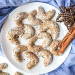 Healthy Vanilla Crescent Cookies - plant based, gluten free, refined sugar free - heavenlynnhealthy.com