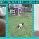 Cloth diapering, diaper free, panty wearing toddler