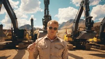 Watch this: Dolph Lundgren puts Volvo excavators through boot camp