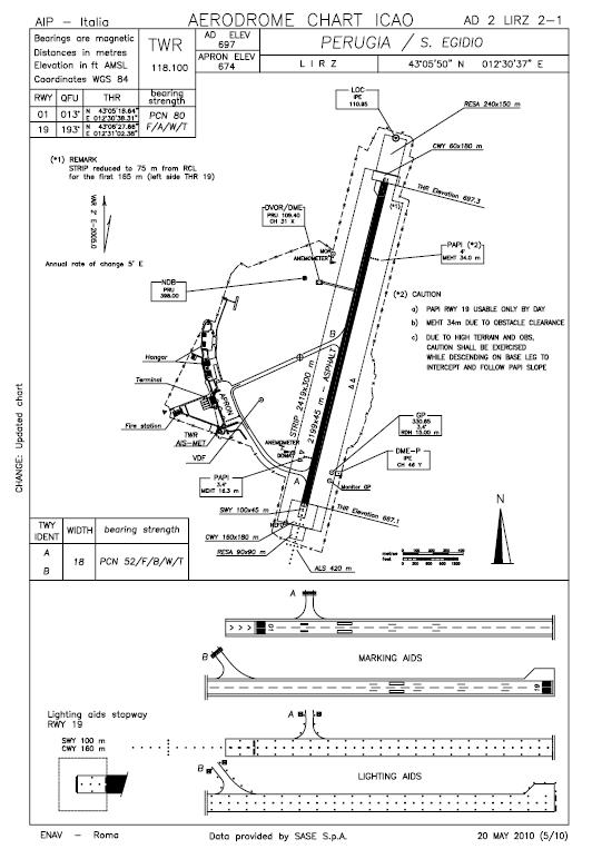 chart vac airport diagram and map for this general aviation