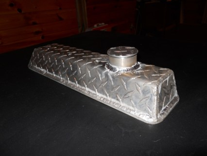 fabricated aluminum diamond plate valve cover for chevy small block 383 vortec rocker arm cover