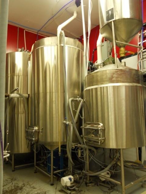 St. Lawrence Brewing brew house hot liquor tank brew kettle mash tun