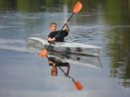 My son Steven paddling.